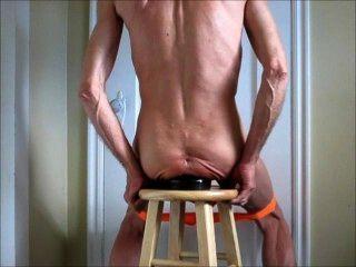 Fisting anal e enormes butt plug anus alongamento fuck