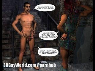 Drag queen de arte do desenho animado da banda desenhada do gay de toon do scifi 3d do espaço