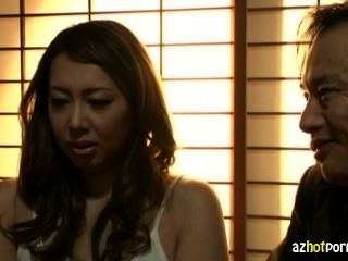 Casado, asiático, mulher, hardcore, exposição