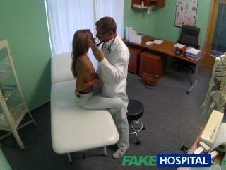 Fakehospital, espiar, quentes, jovem, babe, tendo, especial, tratamento