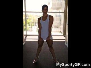 Meninas musculadas reais da ginástica!