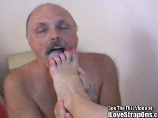 Fetish fetish pé pegged com a minha cinta em!