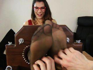 Secretário pé cócegas e tease