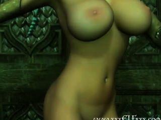 Big tits cgi elf sabe como tease