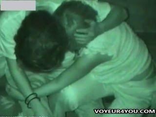 Tarde da noite sexo público voyeur