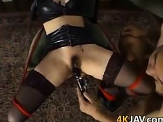 Escravo japonês é brincado com