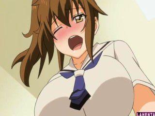 Hentai schoolgirl sucks caras duro galo e fica fodido