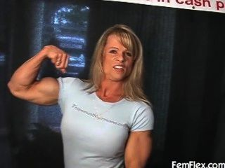 Flexão do músculo elena