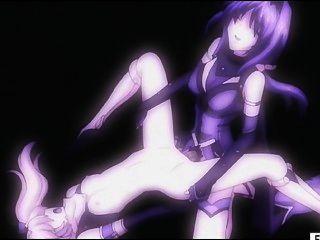 Hentai menina fica bichano e ass fucked por shemale