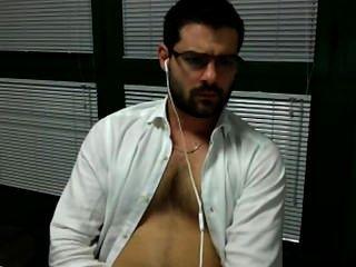 Jerk está no escritório sega no ufficio