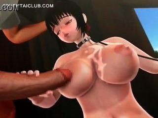 Pintainho busty do hentai que obtem o tittyfucked