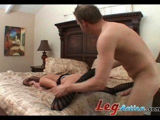 Trisha rey longo pernas slut dá quente fucking