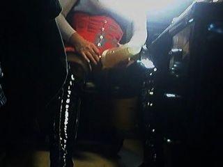 Fleshlight nas botas altas da coxa