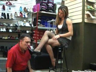 Fetiche dos pés da senhora
