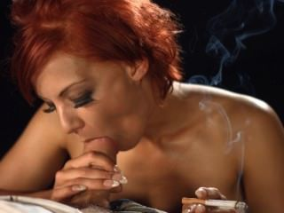 Lou lou que fuma o blowjob