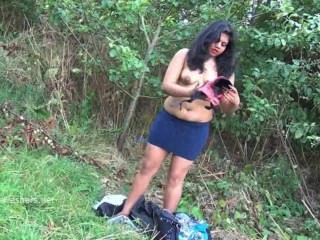 Indiano amador bbw kikis público piscar e ao ar livre voyeur masturbação wi