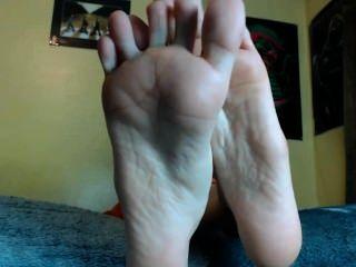 Adorar meus pés e empurrão fora