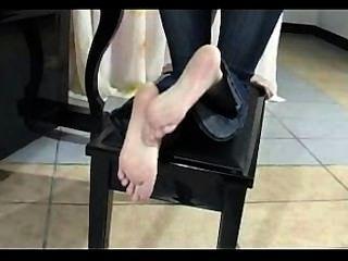 Chinês, pé, rubing, posar