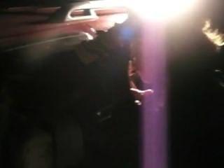 Fumar loira no carro com a polícia