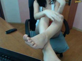 Jovem show sujo pés solas privado show webcam chaturbate cb candynita