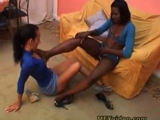 Brasil interracial pés adoração 1