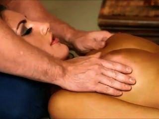 Grande, titted, menina, massaged, banged