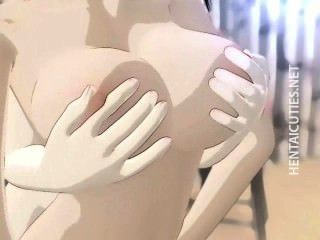 Busty hentai lesbolesbiandykes esfregar bichanos