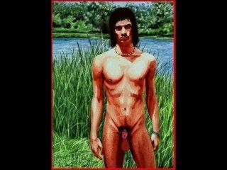 O masculino invaginado (macho humano com pênis totalmente retrátil) animação