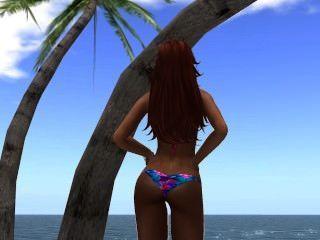 Venise e biquíni em bord de plage