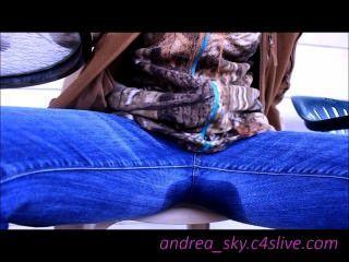 Mijando através do meu céu azul andrea blusa