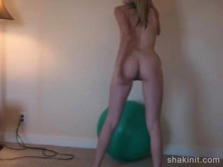 Treino de bola de ioga