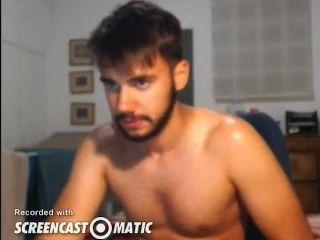Sexy guy cums na câmara