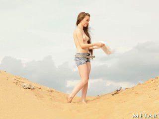Menina quente na praia!