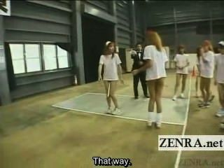 Legendado sem fundo japonês gyaru grupo baton relay