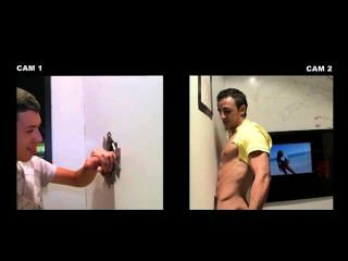 Gay guy tricks amador straight guy em blowjob em gloryhole