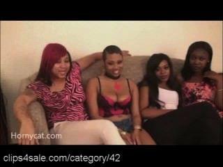 Meninas quentes do ébano em clips4sale.com