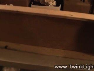 Twinks de vampiros nos bastidores antes da filmagem