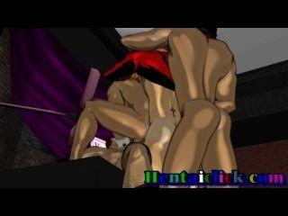 Musculoso anime gay hardcore bombeamento