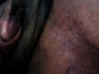 Pintainho brinca com sua buceta carnuda enorme