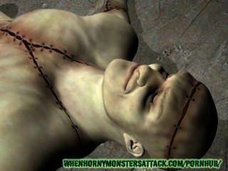 Pornô monster 3d: franquia e babe fuck