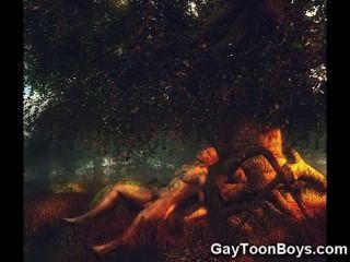 Gays 3d muscular!