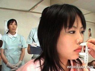 Asiático, bonito, paciente, obtem, bichano, verificado, ginecologista