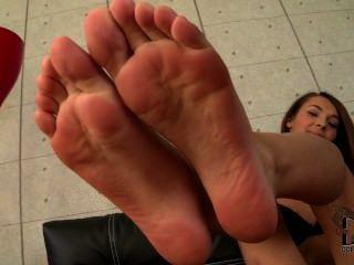Alexis maravilha, mostrando, jovem, toes, soles