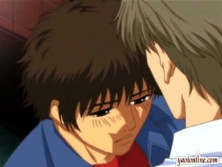Hentai casal gay ter um beijo suave