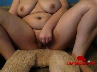 Chubby fucks teddy