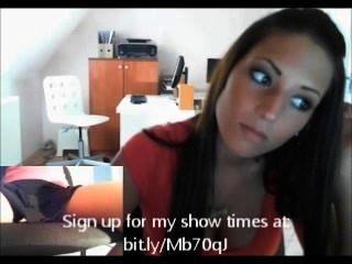 Menina de escritório na webcam para fucking