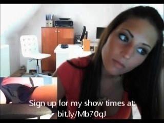 Menina do euro na webcam