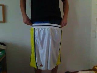 Flacidez adidas basquetebols e boxer de cetim