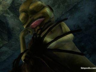 AlienígenasEstrangeiros assustadores e dick monsters que uma noite para lembrar