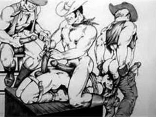 Hoedown cenas do oeste americano